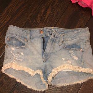Lo rise jean shorts